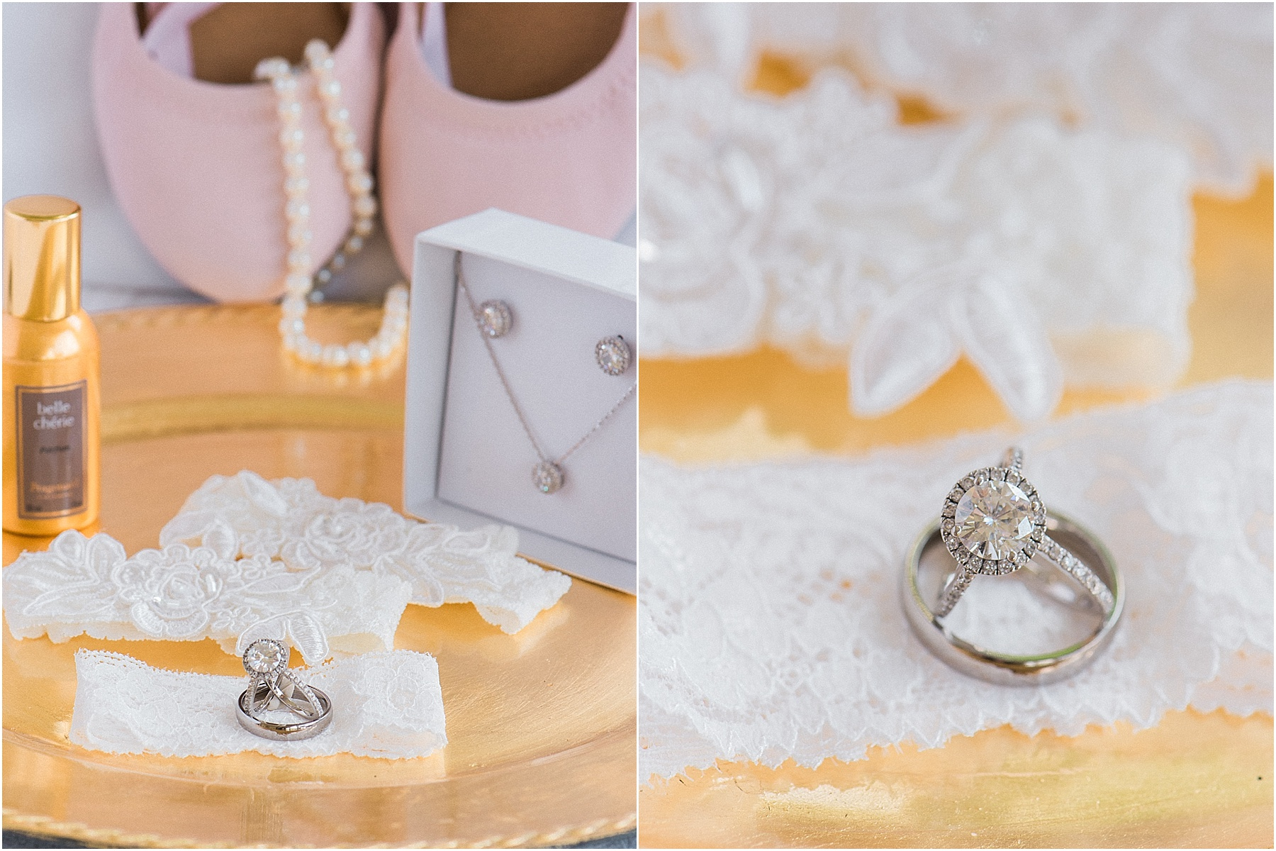 Wedding Rings wedding jewelry and shoes styled detail photography wedding day detail photography