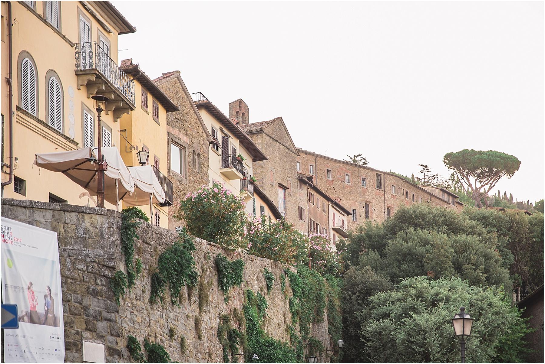 view of cortona italy from hotel san luca piazza garibaldi