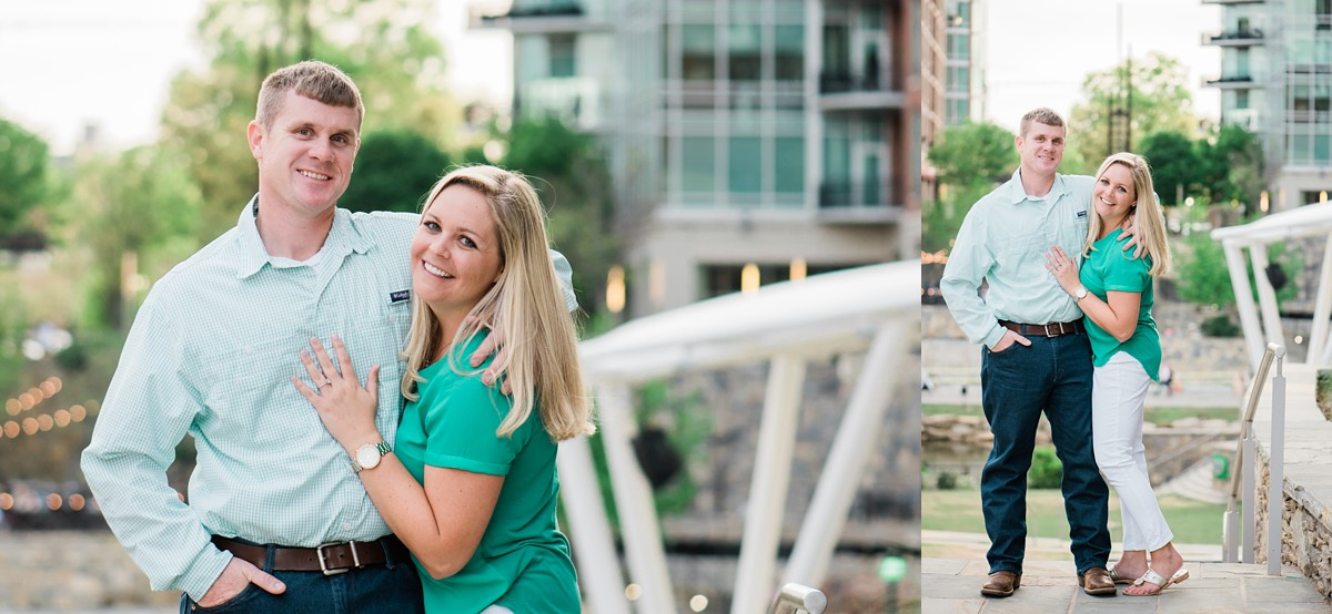 downtown greenville sc engagement photography session in greenville sc peace center greenville sc wedding photographer