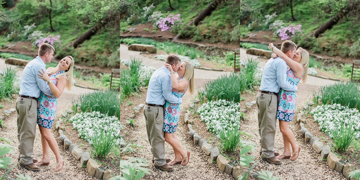 falls park greenville sc springtime flowers engagement portrait session in greenville sc wedding photographer in greenville south carolina