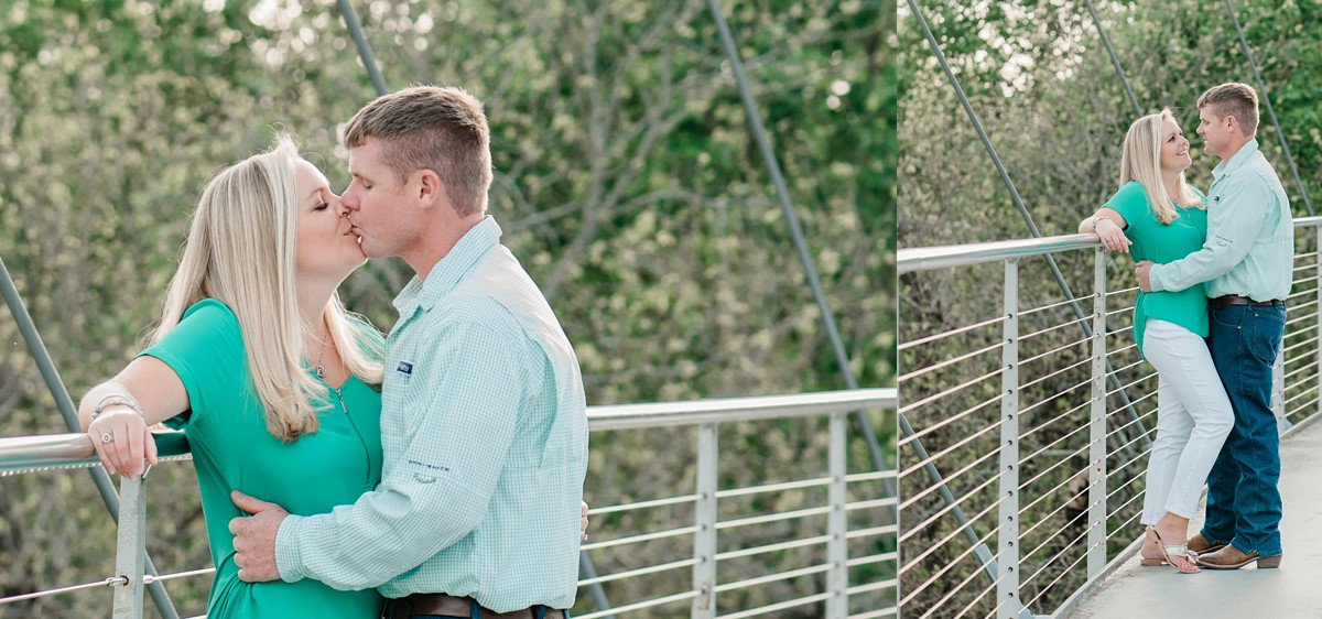 engagement session at Falls Park on the Reedy Greenville SC engagement photography Falls Park bridge engagement Greenville SC wedding photographer