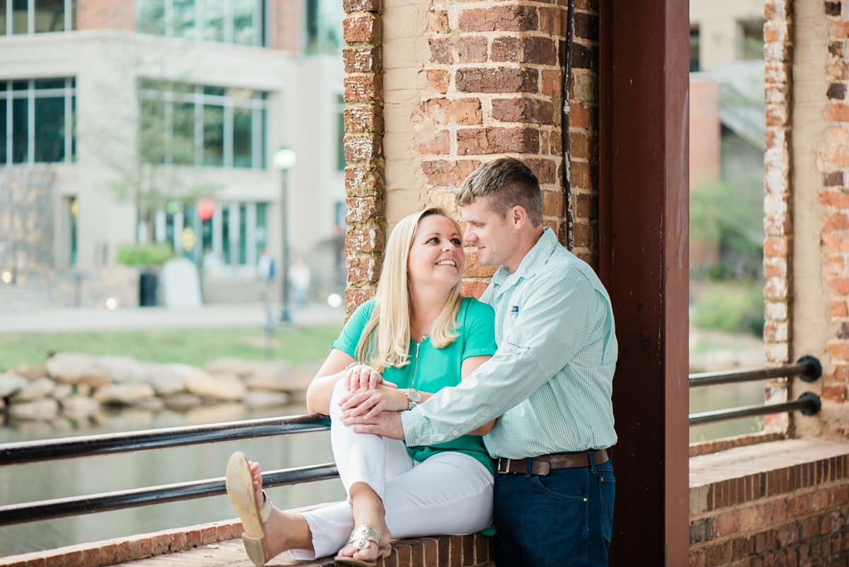 downtown greenville sc engagement photography session in greenville sc peace center greenville sc wedding photographer wyche pavilion larkins on the river wedding
