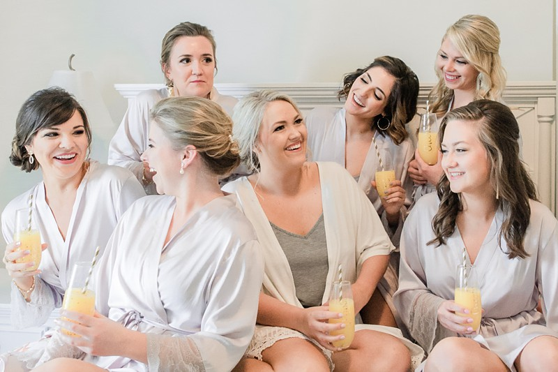 boone hall plantation wedding bride and bridesmaids getting ready at isle of palms charleston sc wedding