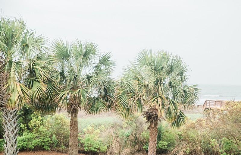 isle of palms wedding charleston sc beach getting ready palm trees on the beach in the rain charleston sc