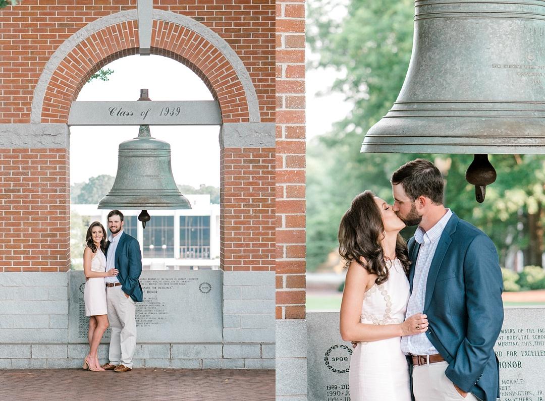 clemson university engagement session at clemson tillman bell upstate wedding photography greenville wedding photographer upstate sc engagement