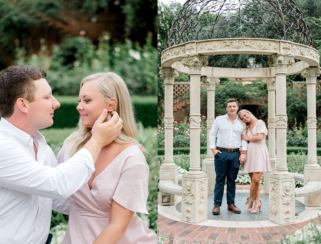 furman engagement session at furman greenville sc engagement wedding photographer in greenville sc furman university rose garden