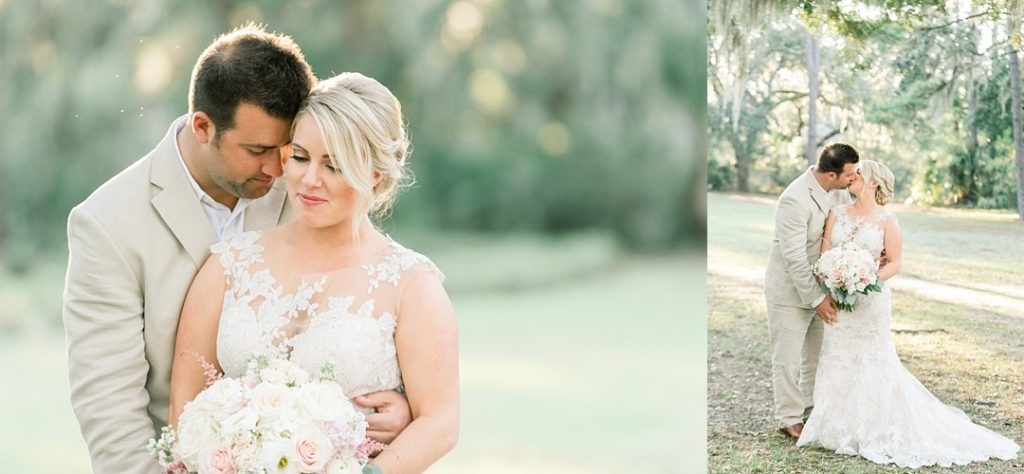 bride and groom portraits hilton head island sea pines resort bride and groom wedding photography