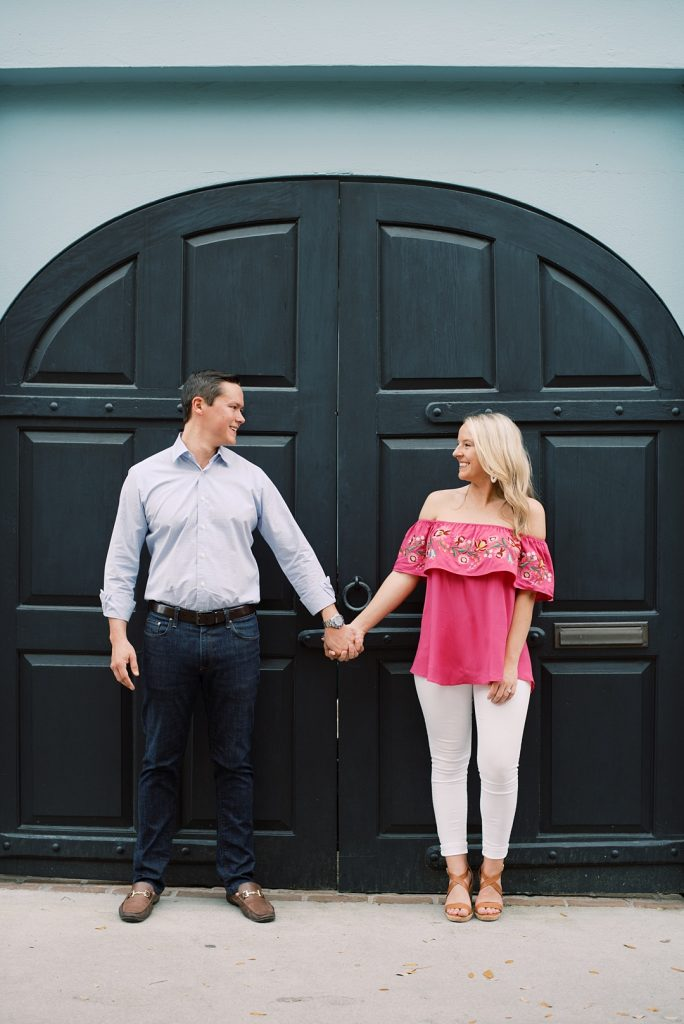 charleston engagement session doorway rainbow row charleston sc engagement charleston wedding photographer sc film photographer sc wedding photographer southern wedding engagement photographer