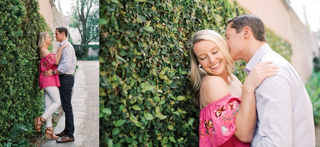 charleston engagement session doorway rainbow row charleston sc engagement charleston wedding photographer sc film photographer sc wedding photographer southern wedding engagement photographer ivy covered wall