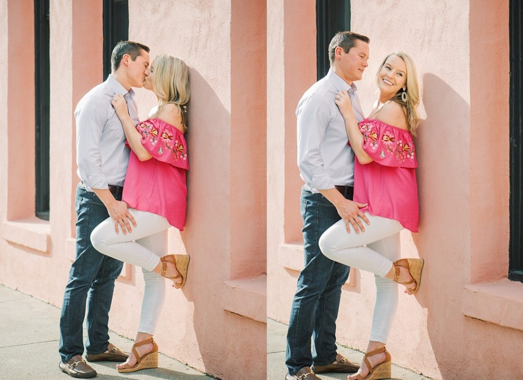 charleston engagement session doorway rainbow row charleston sc engagement charleston wedding photographer sc film photographer sc wedding photographer southern wedding engagement photographer waterfront park charleston battery engagement