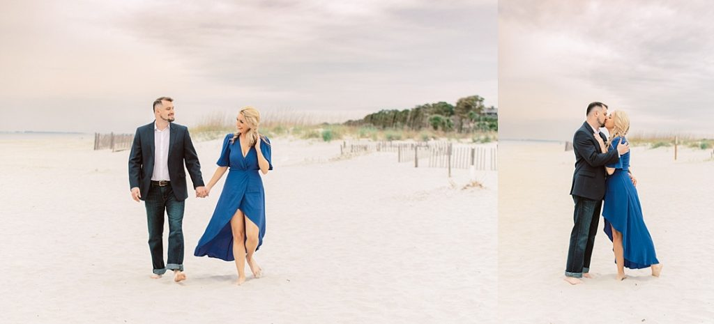 destination engagement session on hilton head island coligny beach engagement photographer in SC wedding photographer in south carolina film wedding photographer