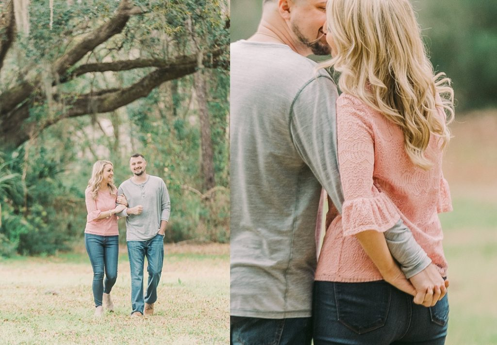 destination engagement session on hilton head island sea pines engagement session film engagement photographer film wedding photographer hilton head wedding photographer spanish moss engagement portraits