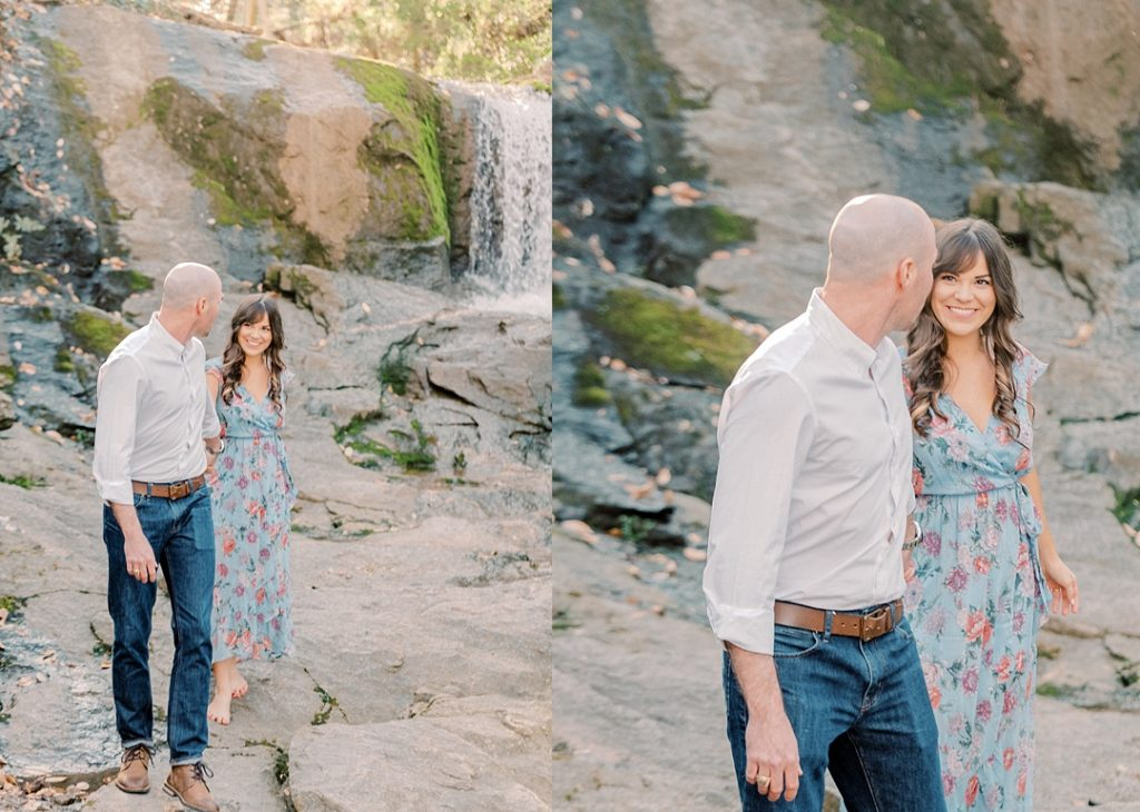falls park on the reedy greenville sc waterfall greenville wedding photographer melissa brewer photography greenville sc spring engagement session