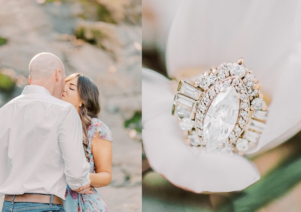 falls park on the reedy greenville sc melissa brewer photography greenville sc engagement session custom heirloom engagement ring heidi gibson engagement ring