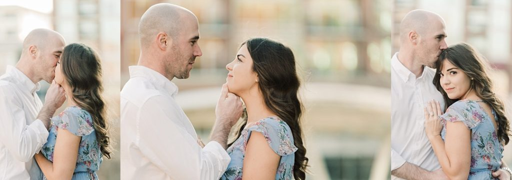 peace center greenville sc engagement session larkins on the river wyche pavilion wedding in greenville sc melissa brewer photography engagement session kissing
