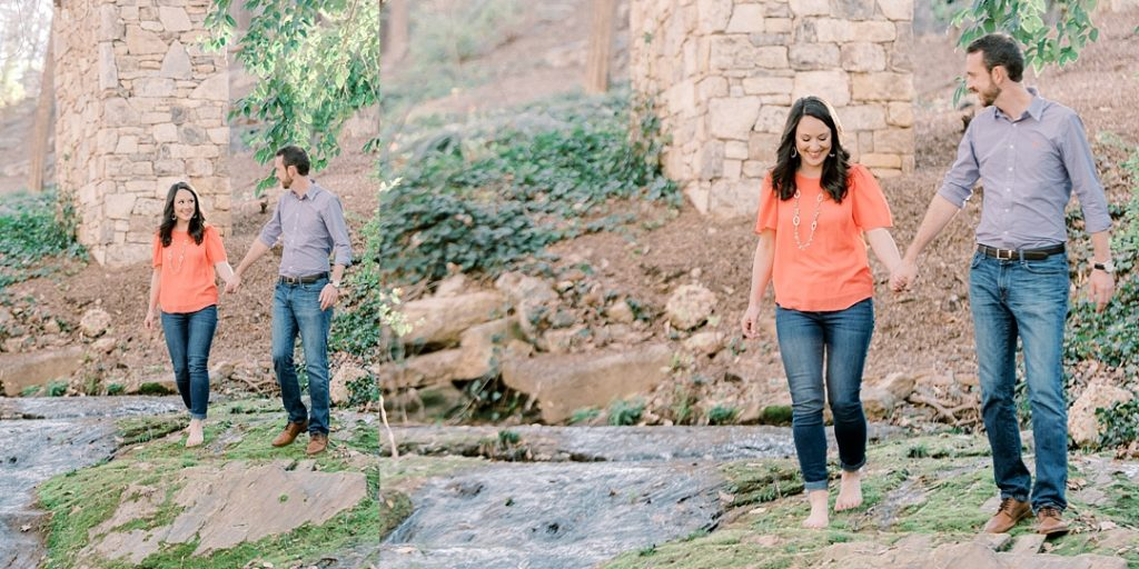 engagement photos in greenville sc falls park on the reedy engagement session waterfall park engagement