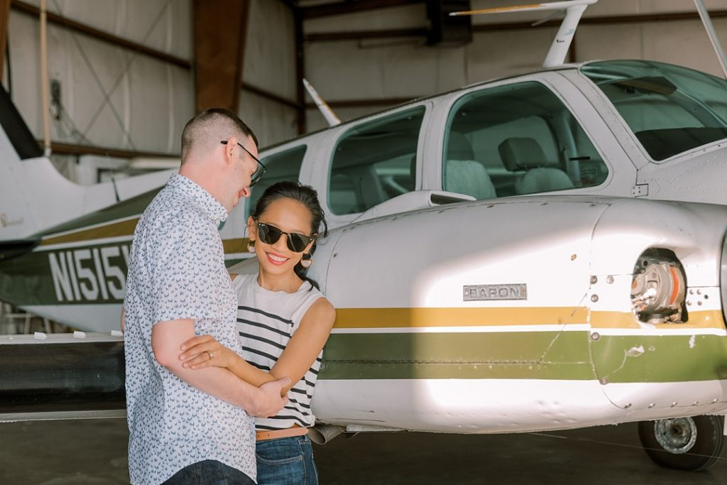 greenville downtown airport engagement session in greenville sc unique engagement photographer greenville sc wedding photographer